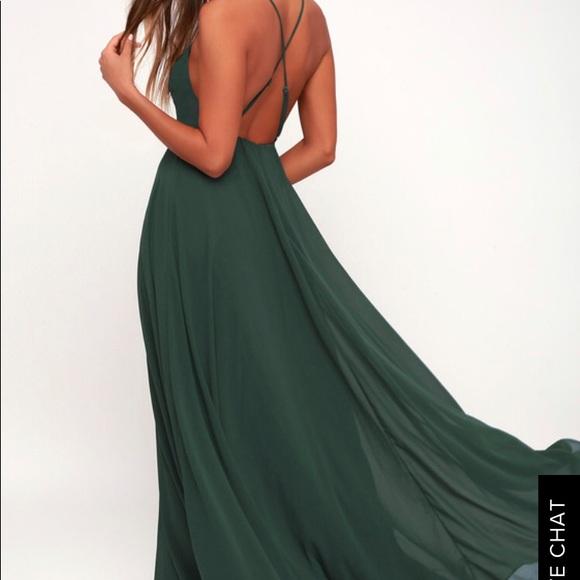 a933b2f98612c Lulu's Dresses   Lulus Mythical Kind Of Love Dark Green Maxi Dress ...